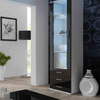 Cama Vitrína SOHO S-1 vysoká - bílá/černá