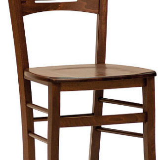 ATAN Dřevěná židle Verona masiv tmavě hnědá - II. jakost