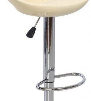 ATAN Barová židle DONGO - béžová / chrom - II. jakost