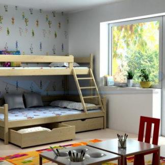 Vomaks Patrová postel s rozšířeným spodním lůžkem PPS 002 - 1234/BAR10