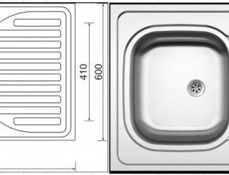 ATAN Celoplošný dřez SINKS CLP-D 0 M 0.5mm matný se sifonem - II. jakost