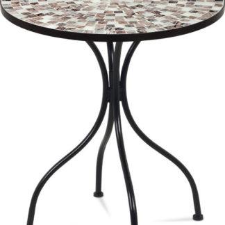Autronic Stůl kovový s mozaikovou deskou JF2206